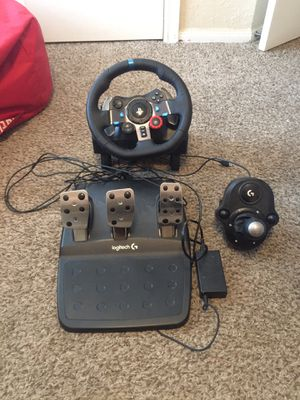 LOGITECH G29 steering wheel + pedals + h-shifter for Sale in Austin, TX