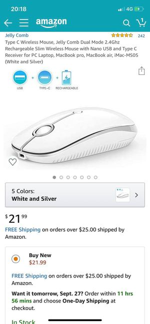 Jelly comb wireless mouse for Sale in Longview, TX
