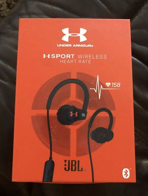 UnderArmour Sport Wireless headphones w/ heart monitor msrp 199.99 for Sale in Sebring, FL