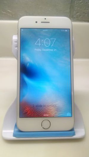 iPhone 6 128gb NOT A PLUS Unclocked Excellent Silver Tmobile Att MetroPcs Verizon Sprint Cricket Boost Simple/Ultra Mexico Asia Central America Europe for Sale in Hammond, IN
