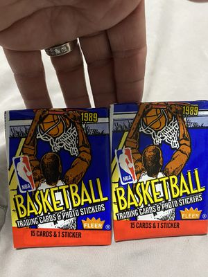 2 packs of sealed Basketball cards for Sale in Chicago, IL