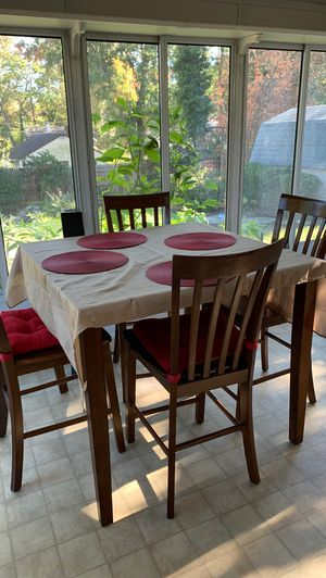 Square dining table and four chairs for Sale in Gaithersburg, MD