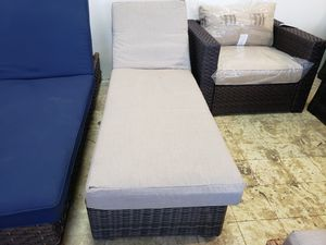New outdoor patio furniture gray color sunbrella fabric chaise Lounger for Sale in Hayward, CA