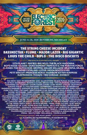 GA ELECTRIC FOREST ticket 2020! for Sale in Colorado Springs, CO