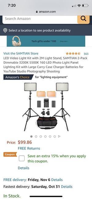 Studio photography shooting led for Sale in Riverside, CA