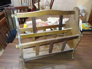 Wooden magazine holder rack for Sale in Palatine, IL