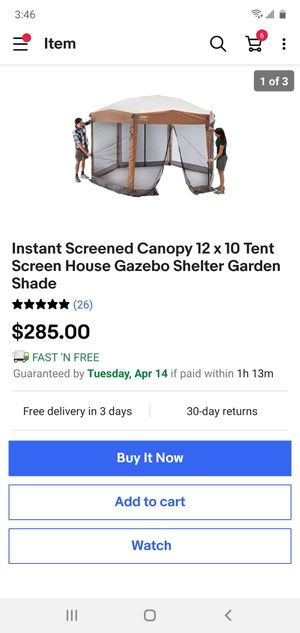 Coleman 12x10 canopy with screen for Sale in Springfield, VA