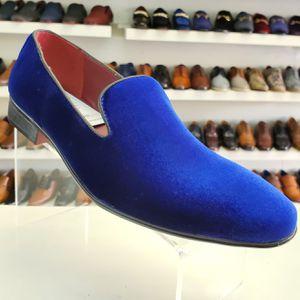 Royal blue men loafer smoker dress shoe for Sale in Los Angeles, CA