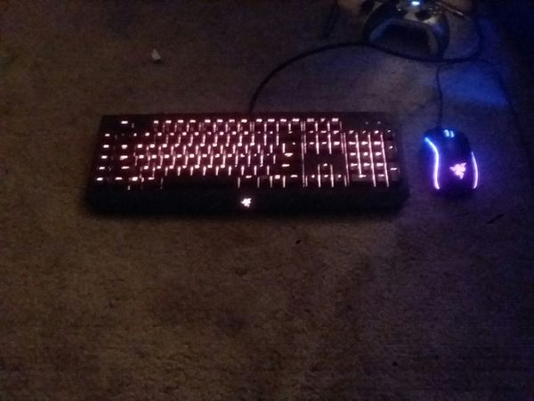 Razer BlackWidow chroma RGB mechanical gaming keyboard and Razer Mamba  tournament Edition RGB gaming mouse for Sale in Belleview, FL - OfferUp