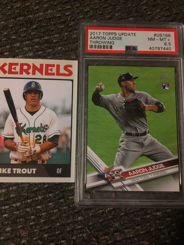 2017 Topps Update Judge throwing Rc psa8.5& pre draft mike Trout