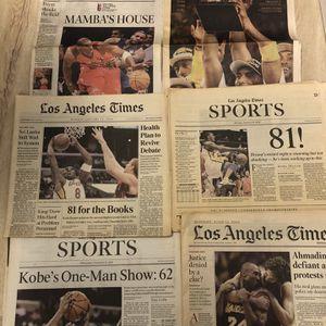 Kobe Bryant La Times Newspaper for Sale in Los Angeles, CA