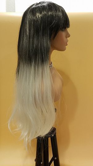 Long Black With Blonde Straight Wig for Sale in Hudson, FL