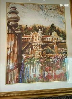 Design Images painting with gold frame. FOUNTAIN OF NEPTUNE for Sale in Johnston, RI
