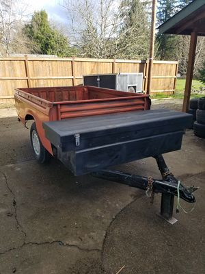 Truck bed trailer w/ steel box for Sale in Marcola, OR