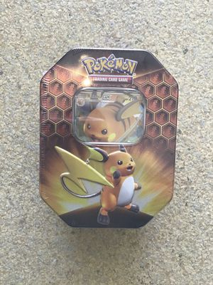 Pokemon TCG: SM11.5 Hidden Fates Gx Tin- Raichu for Sale in Lake Forest, CA