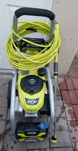 RYOBI 3300 PSI 2.3 GPM Cold Water Gas Pressure Washer with Honda GCV190 Idle Down for Sale in Phoenix, AZ