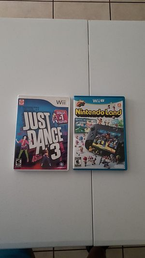 Just dance 3 and Nintendo land for Sale in La Habra Heights, CA