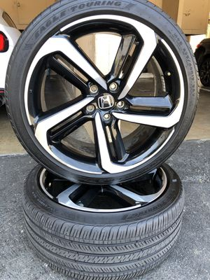 2 rims tires 19x8,5 for Honda Accord sport 2 only for Sale in Santa Ana, CA