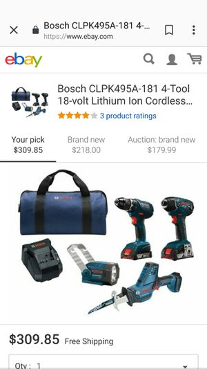 Bosch Cordless Drill, Impact, Saw, 2 Batteries, Battery Charger for Sale in Hayward, CA