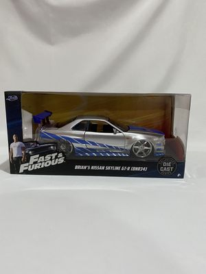 Fast and Furious Nissan Skyline GT-R R34 Collectible Car Toy for Sale in Los Angeles, CA
