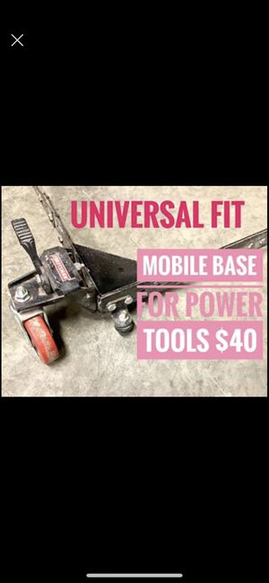Mobile base for saw stand miter saw table saw etc - craftsman brand - universal size fits most saws for Sale in Tacoma, WA