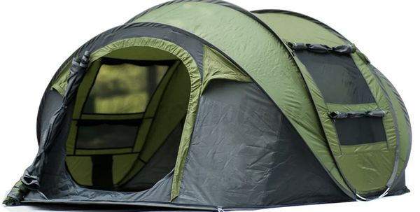 Auto Pop Up Tent Waterproof Portable Outdoor Camping Hiking 5-8 Person W/2Doors