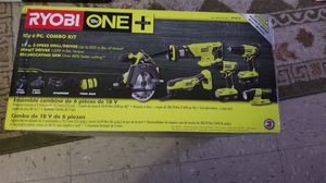 Ryobi 6 pcs combo set drill impact driver circular ... for Sale in The Bronx, NY