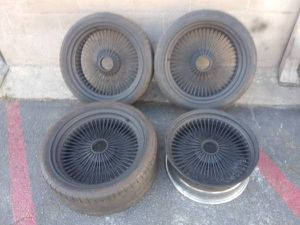 20 inch spoked rims. Fit any car or truck with adapters for Sale in Pico Rivera, CA