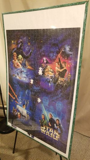 Star Wars Puzzle with frame for Sale in Silver Spring, MD
