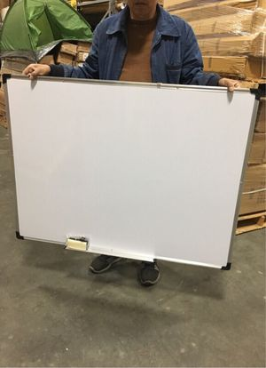 New 47x35 inches dry erase marker writing tutor board with eraser included magnetic for Sale in Santa Fe Springs, CA