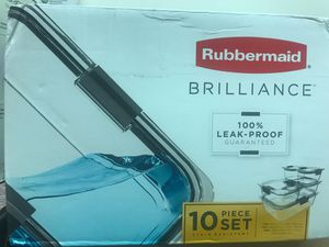 Rubbermaid Brilliance 10-Piece Food Storage Container Set, Clear for Sale in Glendale, AZ