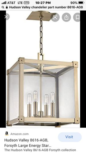 Hudson Valley Chandelier for Sale in Federal Way, WA