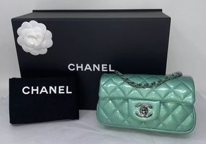 CHANEL Quilted Patent Flap Bag for Sale in Corona, CA