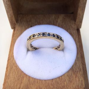 18k yellow gold real sapphires eternity ring for Sale in South Gate, CA