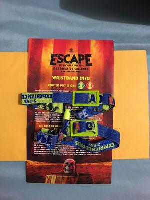 Escape Halloween ticket of 2-day GA for Sale in Santa Ana, CA