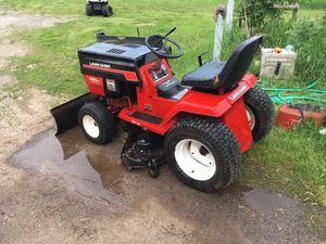 Lawn chief garden tractor with plow for Sale in Hudson, WI