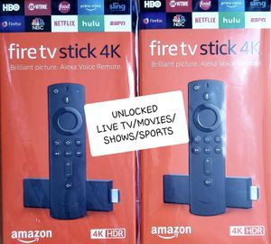 Unlocked 4K Amazon Fire TV Stick with best setup! for Sale in Brooklyn, NY