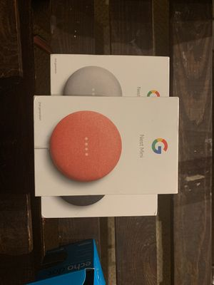 Google Nest Mini 2nd Generation BRAND NEW ALL COLORS AVAILABLE for Sale in St. Louis, MO
