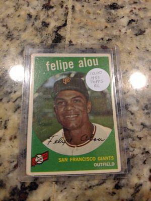 1959 Topps Felipe Alou Rookie Baseball Card for Sale in Lutz, FL