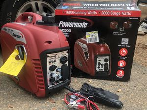 2000w Inverter Generator by Powermate NEW! for Sale in San Diego, CA