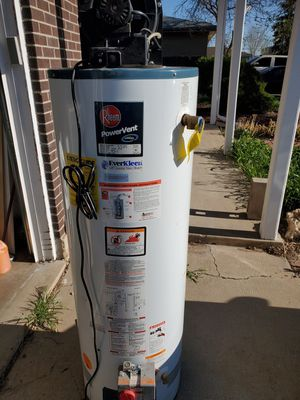 Used Rheem power vent water heater for Sale in Denver, CO