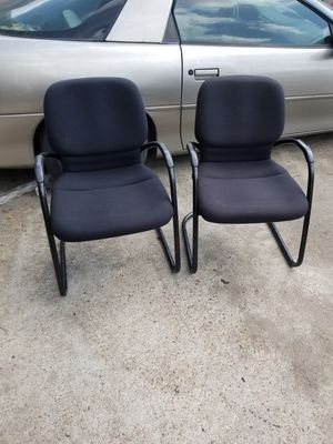Black guest chairs $50 each (good condition) for Sale in Houston, TX