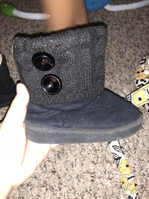 Toddler size 6 black boots for Sale in Harvard, IL