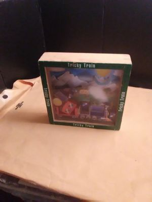Tricky train wood puzzle game for Sale in Wichita, KS