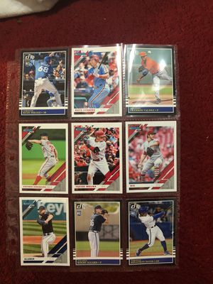 Lot #3 of 2019 donruss baseball card lot of stars , rookies and variations nick names all 9 cards for $2 for Sale in Beltsville, MD
