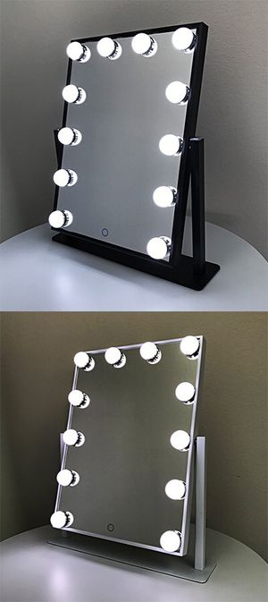 """New in box $70 each Vanity Mirror 12 Dimmable Light Bulbs Hollywood Beauty Makeup, 16""""x12"""" for Sale in Whittier, CA"""