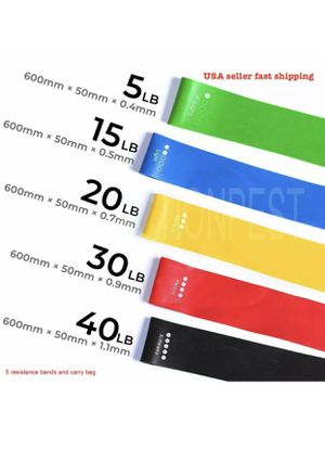 Resistance Exercise Loop Bands 5 Pcs Fitness Yoga TrainingBands for Sale in Chattanooga, TN