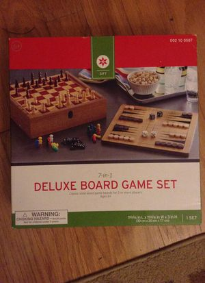 7 in 1 game board set for Sale in Charlotte, NC