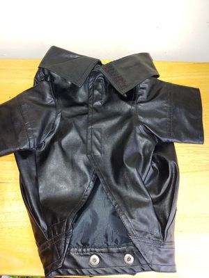 Dog Coat Jacket Leather- like Small-Med Poly Harley Style for Sale in Lake Shore, MD