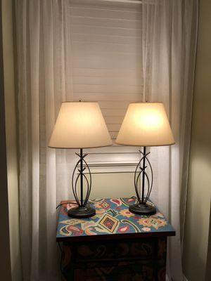 3 lamps - 2 nightstand lamps /1 floor lamp for Sale in Herndon, VA